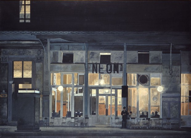 "Giannis Tsarouchis, ""Cafe Neon at Night"""