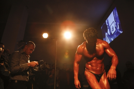 Bodybuilder at the Amp Gallery