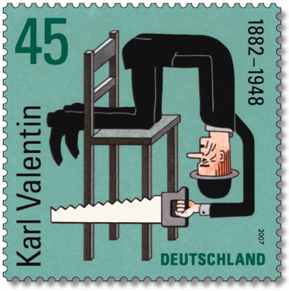 Henning Wagenbreth's design for the Karl Valentin stamp