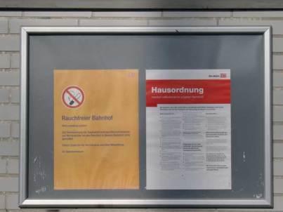 Hausordnung, S-Bahn station, Munich