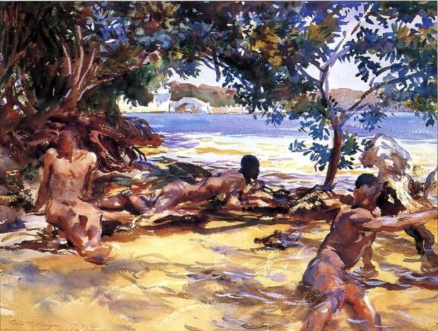 "Image: John Singer Sargent, ""The Bathers"", 1917"