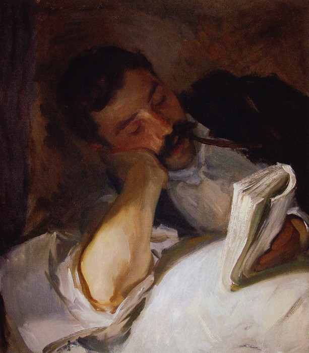 John Singer Sergeant, Man Reading