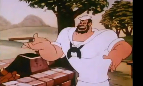 "Bluto, still from ""Cookin with Gags"" (1954)"