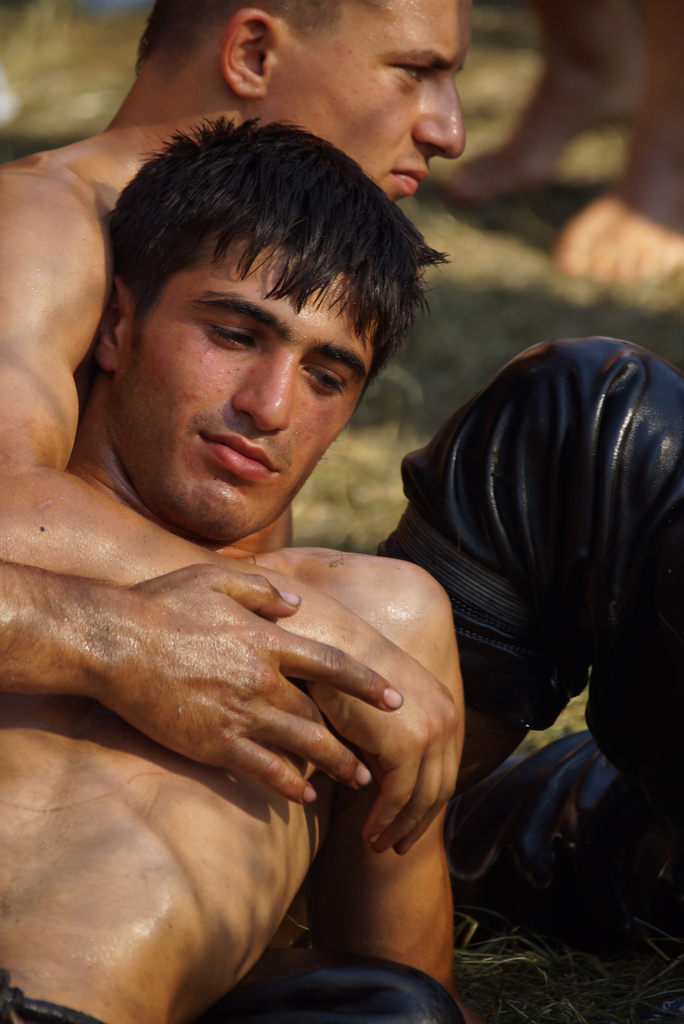 Gay oil wrestling
