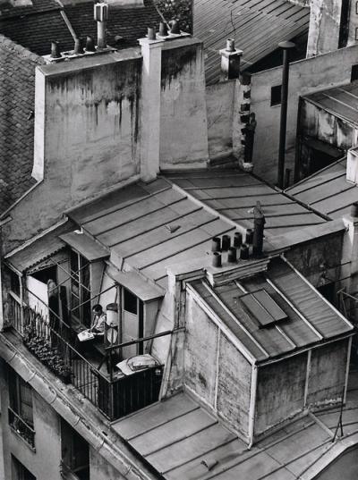 From André Kertész' series, On Reading. Latin Quarter, Paris