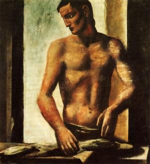 """Mario Sironi """"Il pescivendolo"""" 1927"""