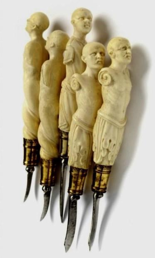 German surgical instruments in ivory and silver gilt, ca 1600