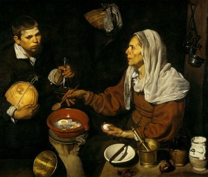 Velasquez, Woman Frying Eggs, 1618