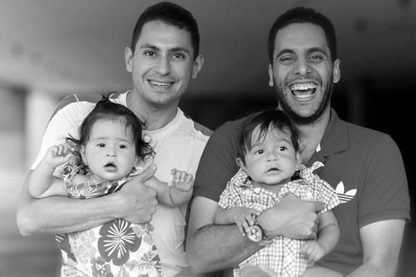 George Constantinous & Farid Ali with their children [from Freedom to Marry]