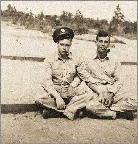 Soldiers on a beach. Photographer unknown.