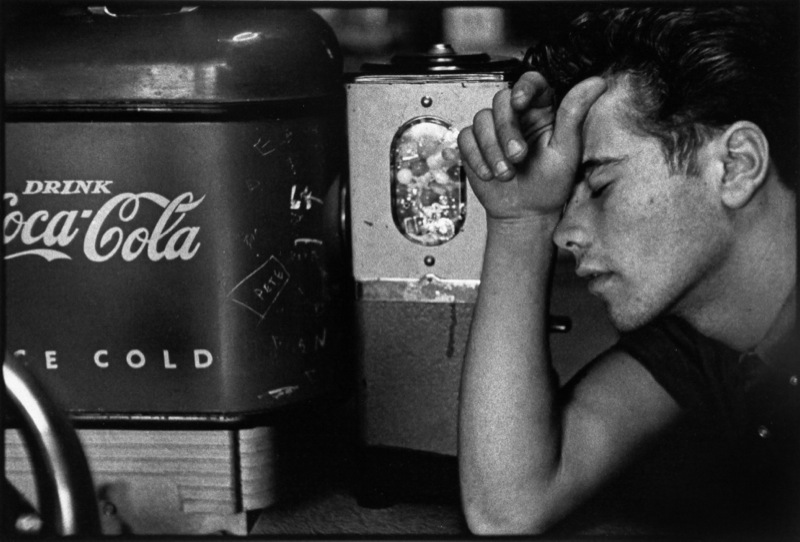 Young man and Coca-Cola machine, 1959. By Bruce Davidson