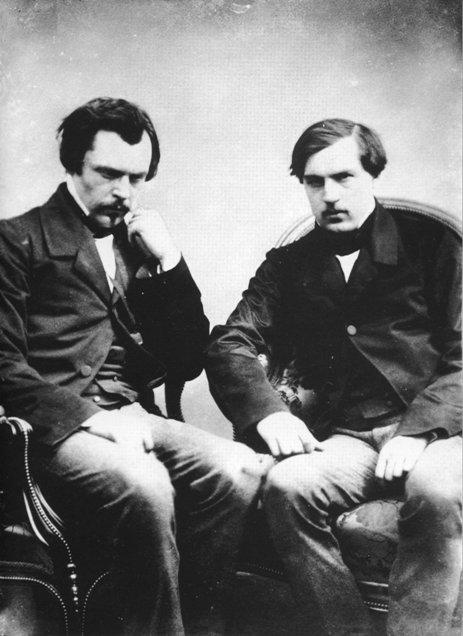 Photograph of Edmond (left) and Jules (right) de Goncourt by Félix Nadar