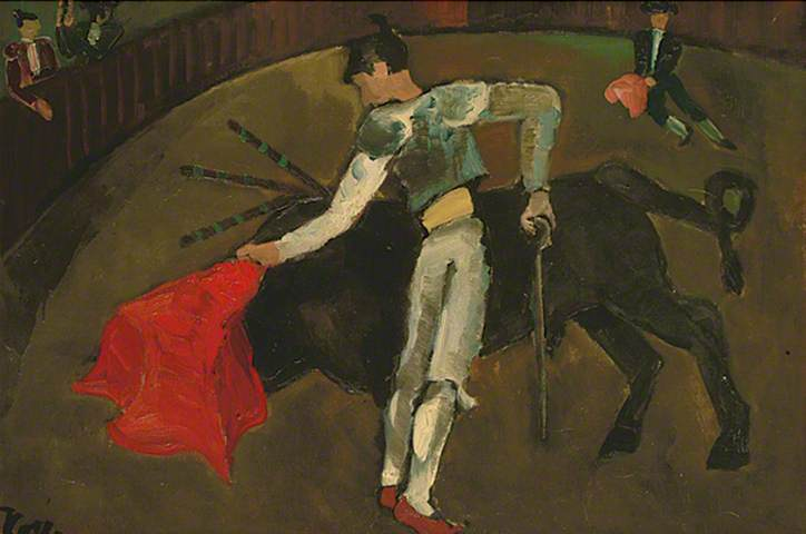 "Helmut Kolle, ""Bullfighter"", (c) Towner Art Gallery; Supplied by The Public Catalogue Foundation"