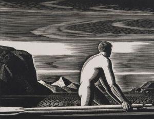 "Rockwell Kent (1882-1971), ""Greenland Swimmer,"" 1932"