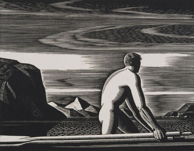 "Rockwell Kent (1882-1971), ""Greenland Swimmer,"" 1932"
