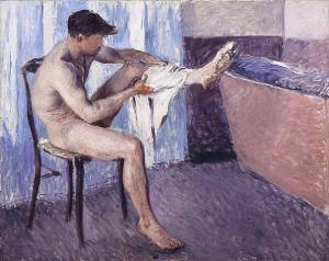 """Gustave Caillebotte, """"Man Drying Himself"""", 1884"""