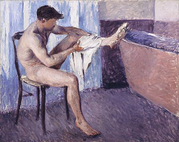 "Gustave Caillebotte, ""Man Drying Himself"", 1884"