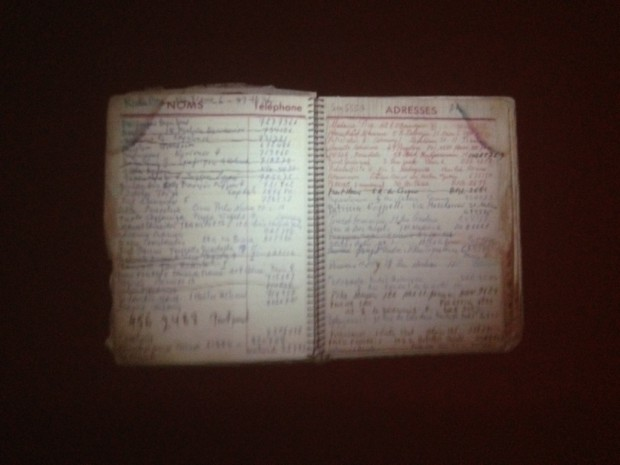 Page from Alexander Iolas' address book