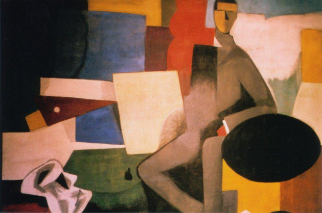 Seated Man, attribtued to Roger de la Fresnaye