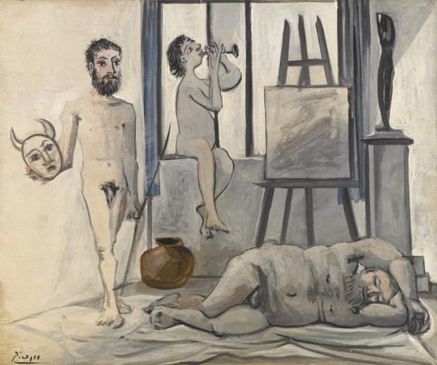 """Pablo Picasso, """"Nus masculins (les trois âges de l'homme), 1942"""