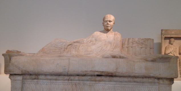 Re-used sarcophagus, 230-240 AD, National Archaeological Museum of Athens
