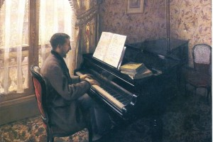 "Gustave Caillebotte, ""Jeune home au piano,"" 1876"