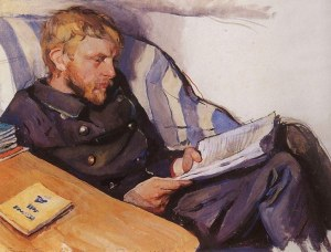 Portrait of Boris Serebriakov by Zinaida Serebriakova