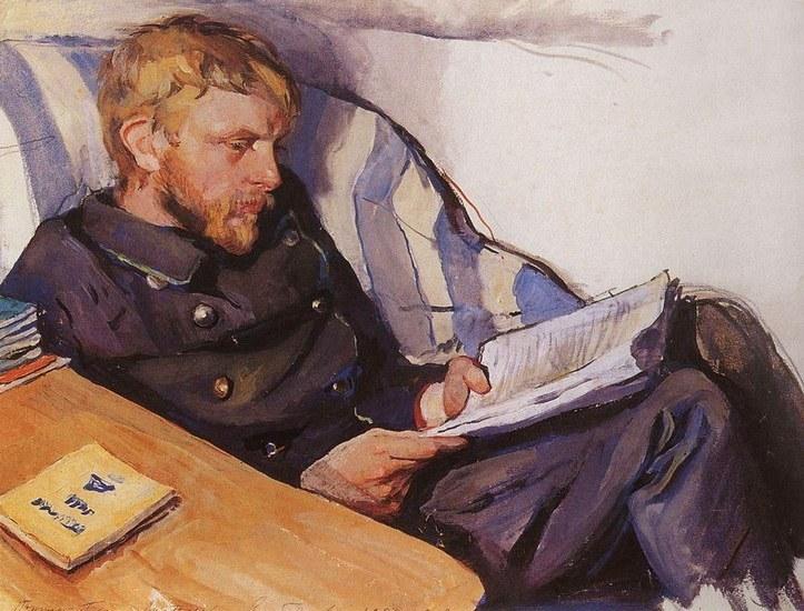 Portrait of Boris Serebriakov by Zinaida Serebriakova